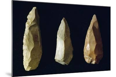Tools Made of Flint, Italy, Neolithic Era--Mounted Giclee Print