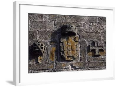 A Crest on Sao Tiago Castle, Viana Do Castelo, Portugal--Framed Giclee Print
