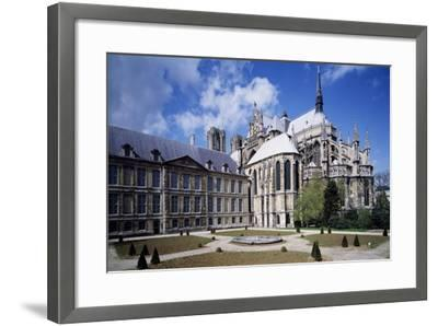View of Apse of Archbishop's Palace of Cathedral of Notre-Dame , Reims, France 13th Century--Framed Giclee Print