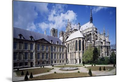 View of Apse of Archbishop's Palace of Cathedral of Notre-Dame , Reims, France 13th Century--Mounted Giclee Print