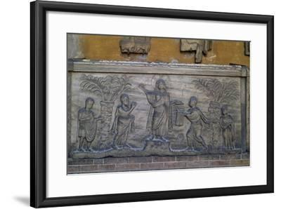 Roman Sarcophagus known as Traditio Legis from Ravenna, Italy, Early Christian Period, 5th Century--Framed Giclee Print