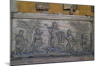 Roman Sarcophagus known as Traditio Legis from Ravenna, Italy, Early Christian Period, 5th Century--Mounted Giclee Print