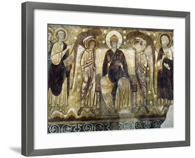 Virgin Enthroned in Chapter Room in Former Abbey of Lavaudieu, France, 12th Century--Framed Giclee Print