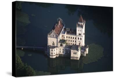 Austria, Salzburg, Anif Castle, 16th Century, Aerial View--Stretched Canvas Print