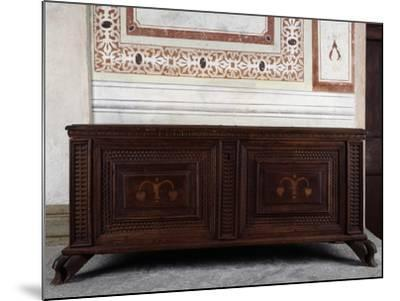 Walnut Chest, Vertemate Franchi Palace, Piuro, Lombardy, Italy, 16th Century--Mounted Giclee Print