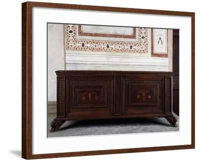 Walnut Chest, Vertemate Franchi Palace, Piuro, Lombardy, Italy, 16th Century--Framed Giclee Print