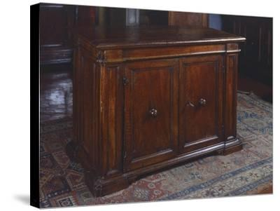 Wanut Sideboard, Made in Tuscany, Italy, 16th Century--Stretched Canvas Print