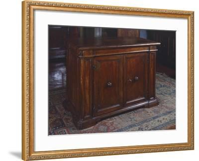 Wanut Sideboard, Made in Tuscany, Italy, 16th Century--Framed Giclee Print