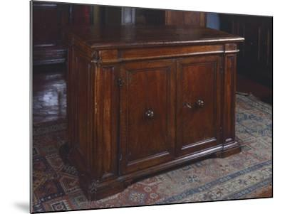 Wanut Sideboard, Made in Tuscany, Italy, 16th Century--Mounted Giclee Print