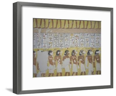 Egypt, Thebes, Luxor, Valley of the Kings, Mural Painting in Tomb of Ramses IV--Framed Giclee Print