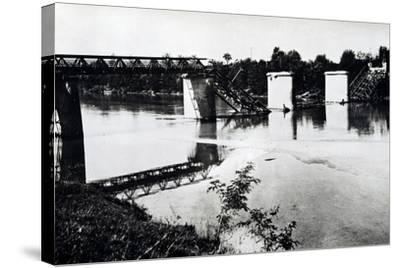 Italy, Bridge in Campo San Martino after Being Blown Up by Damiano Church Brigade--Stretched Canvas Print