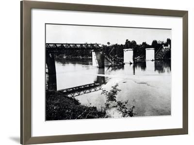 Italy, Bridge in Campo San Martino after Being Blown Up by Damiano Church Brigade--Framed Giclee Print