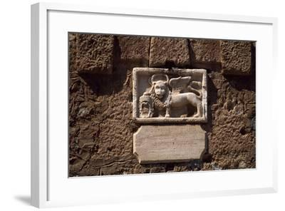 Lion of Venice, Detail from Town of Nafplio, Peloponnese, Greece--Framed Giclee Print