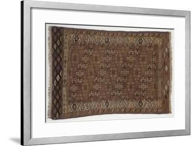 Rugs and Carpets: Russia - Turkestan - Carpet--Framed Giclee Print