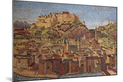 City of Salzburg, Mosaic, Austria--Mounted Giclee Print