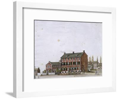 House of the French Ambassador in Washington, 1818--Framed Giclee Print