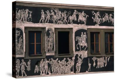 Biblical and Mythological Scenes, Sgraffito-Decorated Facade of Dom U Minuty, House at Minute--Stretched Canvas Print