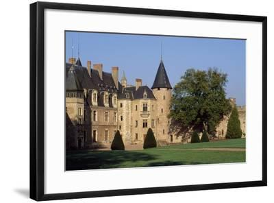 View of Lapalisse Castle from Park, Auvergne, France, 12th-16th Century--Framed Giclee Print