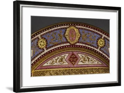 Ornamental Plate, Porcelain, Shield-Shaped Mark in Blue Ink, Viennese Manufacture, Detail, Austria--Framed Giclee Print