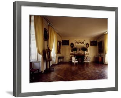 France, Chateau De Lantheuil, Grand Salon with 18th Century Furniture--Framed Giclee Print