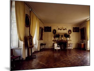 France, Chateau De Lantheuil, Grand Salon with 18th Century Furniture--Mounted Giclee Print
