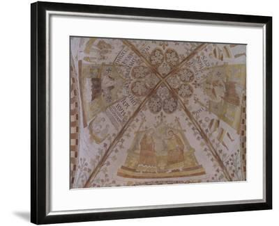 Coronation of Virgin, from Dome With14th Century Frescos, St Benedetto's Church, Ringsted, Denmark--Framed Giclee Print