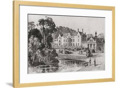 Sandringham House, Sandringham, Norfolk, England in 1862--Framed Giclee Print