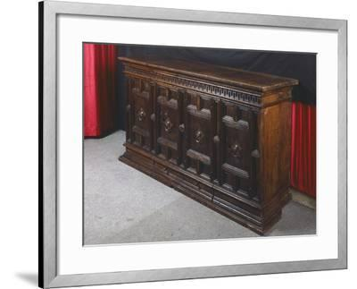 Walnut Sideboard, Italy, 16th Century--Framed Giclee Print