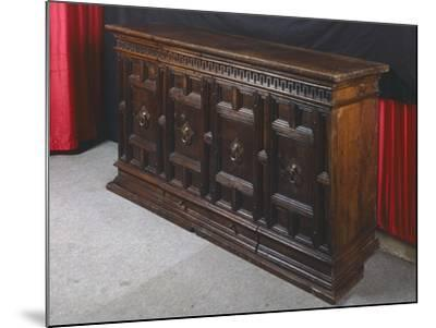 Walnut Sideboard, Italy, 16th Century--Mounted Giclee Print