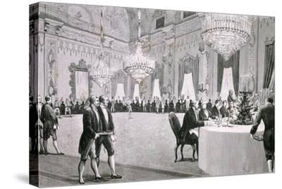 Dinner Given by King Victor Emmanuel Ii for Representatives of Both Houses, March 18, 1877--Stretched Canvas Print