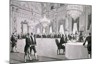 Dinner Given by King Victor Emmanuel Ii for Representatives of Both Houses, March 18, 1877--Mounted Giclee Print