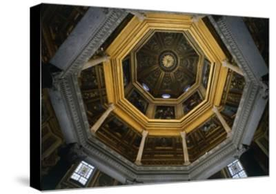 Interior of Dome of Lateran Baptistery, St John Lateran's Archbasilica, Rome, Italy, 5th Century--Stretched Canvas Print