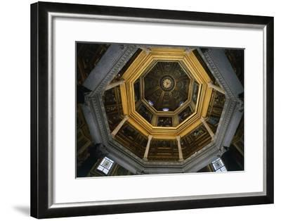 Interior of Dome of Lateran Baptistery, St John Lateran's Archbasilica, Rome, Italy, 5th Century--Framed Giclee Print