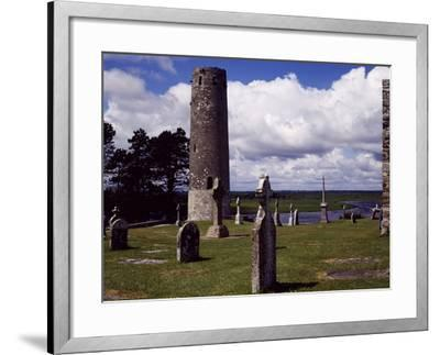Ireland, Remains of Village Founded by St Ciaran of Clonmacnoise on Banks of Shannon River--Framed Giclee Print