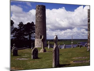 Ireland, Remains of Village Founded by St Ciaran of Clonmacnoise on Banks of Shannon River--Mounted Giclee Print