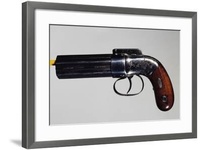 Pepperbox Pistol, Six-Barreled, Nipple Mechanism--Framed Giclee Print