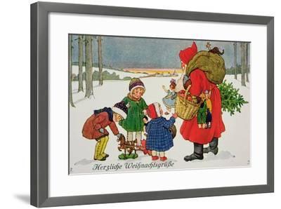 Herzliche Weihnachtsgrusse' Card--Framed Giclee Print