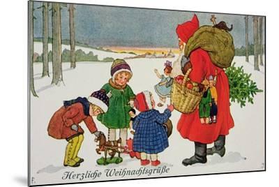 Herzliche Weihnachtsgrusse' Card--Mounted Giclee Print