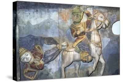 Painting on Wood from Ban Boran, Thailand--Stretched Canvas Print
