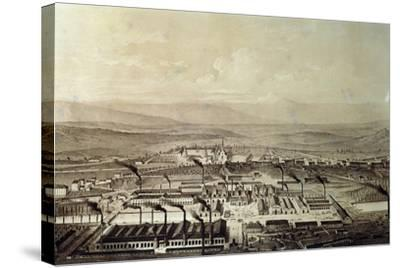 View of Le Creusot in Burgundy 1847, France,19th Century--Stretched Canvas Print