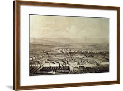 View of Le Creusot in Burgundy 1847, France,19th Century--Framed Giclee Print