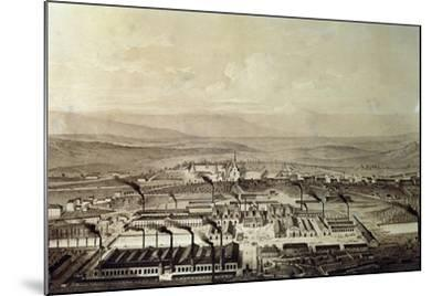 View of Le Creusot in Burgundy 1847, France,19th Century--Mounted Giclee Print