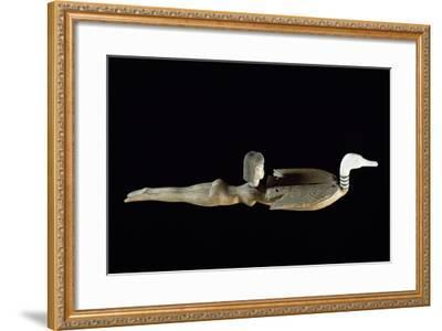 Cosmetics Spoon in the Shape of Swimmer, Ca 1400 BC--Framed Giclee Print