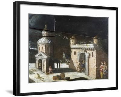 Landscape with Architectural Elements, Detail from a Painting on an 18th Century Harpsichord--Framed Giclee Print