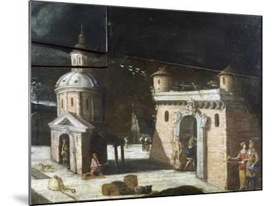 Landscape with Architectural Elements, Detail from a Painting on an 18th Century Harpsichord--Mounted Giclee Print