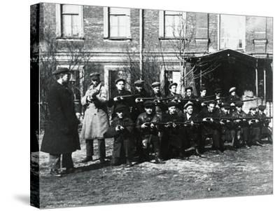 The Civil Guard in Petrograd, 1917--Stretched Canvas Print