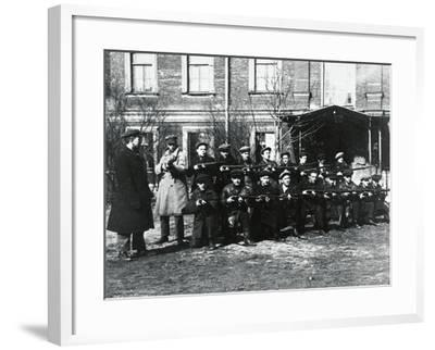 The Civil Guard in Petrograd, 1917--Framed Giclee Print
