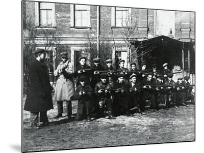 The Civil Guard in Petrograd, 1917--Mounted Giclee Print