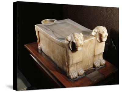 Libation Table or Alabaster Altar, with Lion Heads--Stretched Canvas Print