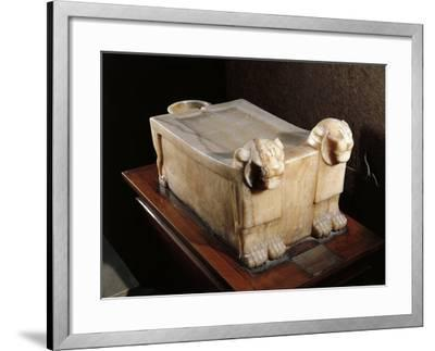 Libation Table or Alabaster Altar, with Lion Heads--Framed Giclee Print